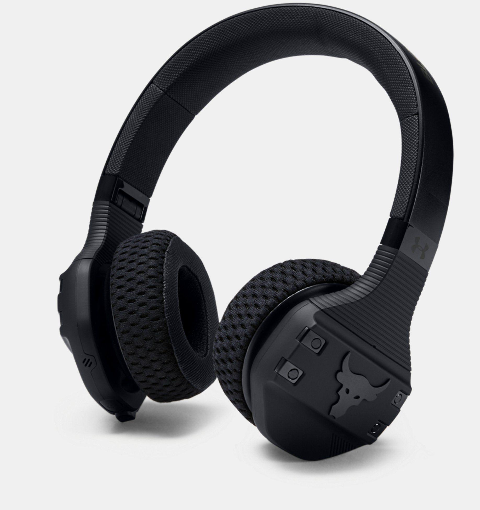 UA Sport Wireless Train Headphones — Project Rock Edition