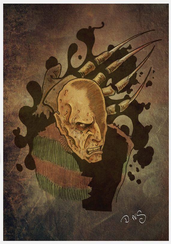 Freddy Krugger Cartoon done in  pencil ink and digital by ArtbyDNS, £16.00