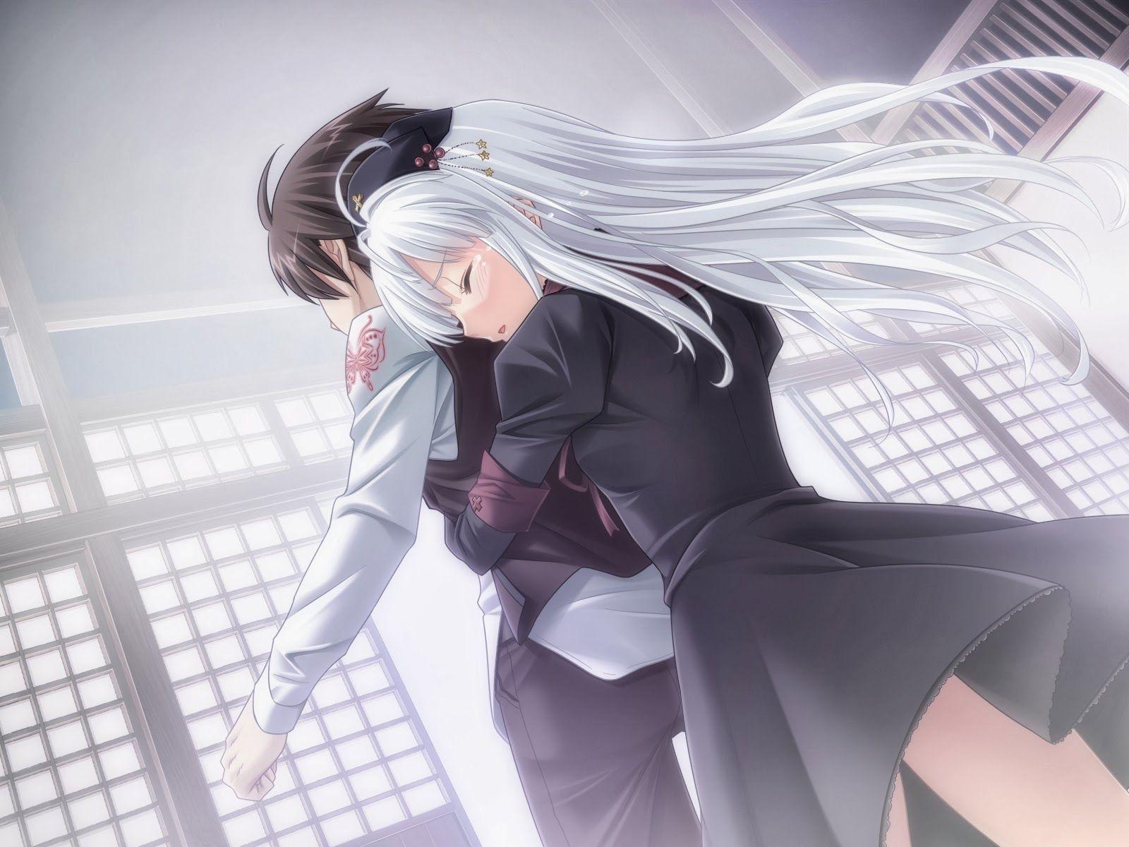 Stay with me please sad anime couple pinterest sad - Anime boy hugging girl ...