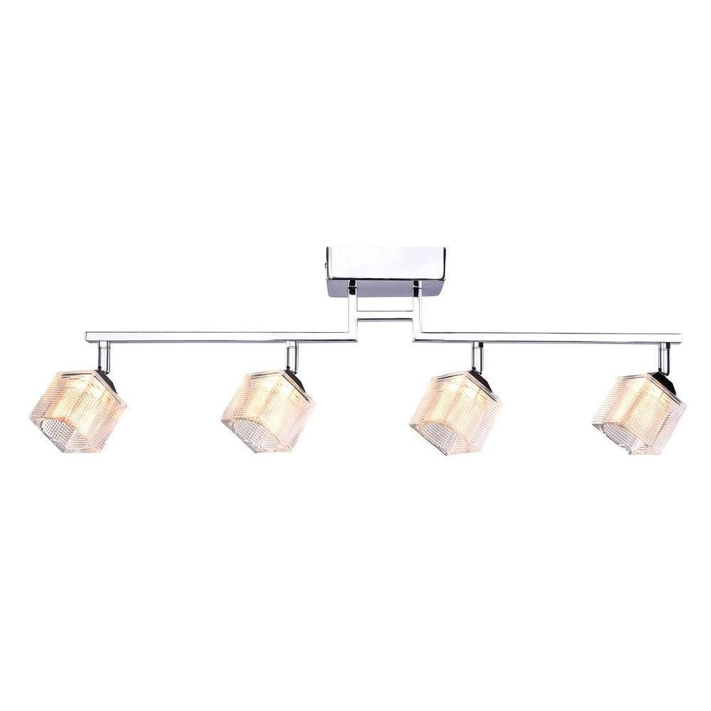 hampton bay 4 light led directional track lighting fixture with