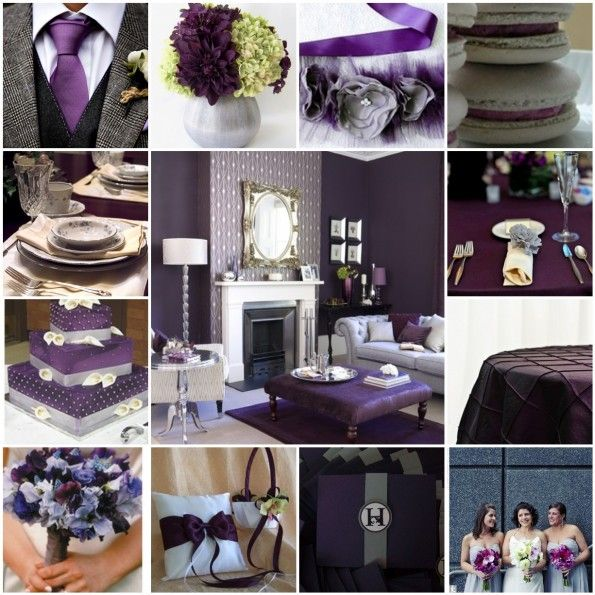 Gray Plum And Pink Wedding Receptions The 6 S Blog Archive Inspiration Eggplant Colorssilver