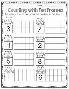 Worksheets Ten Frame Worksheet heres a freebie page from my dog themed math centerheres link to the full productclick