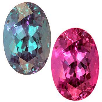 Brazilian Alexandrite Same Gemstone Changes Color In Light Source
