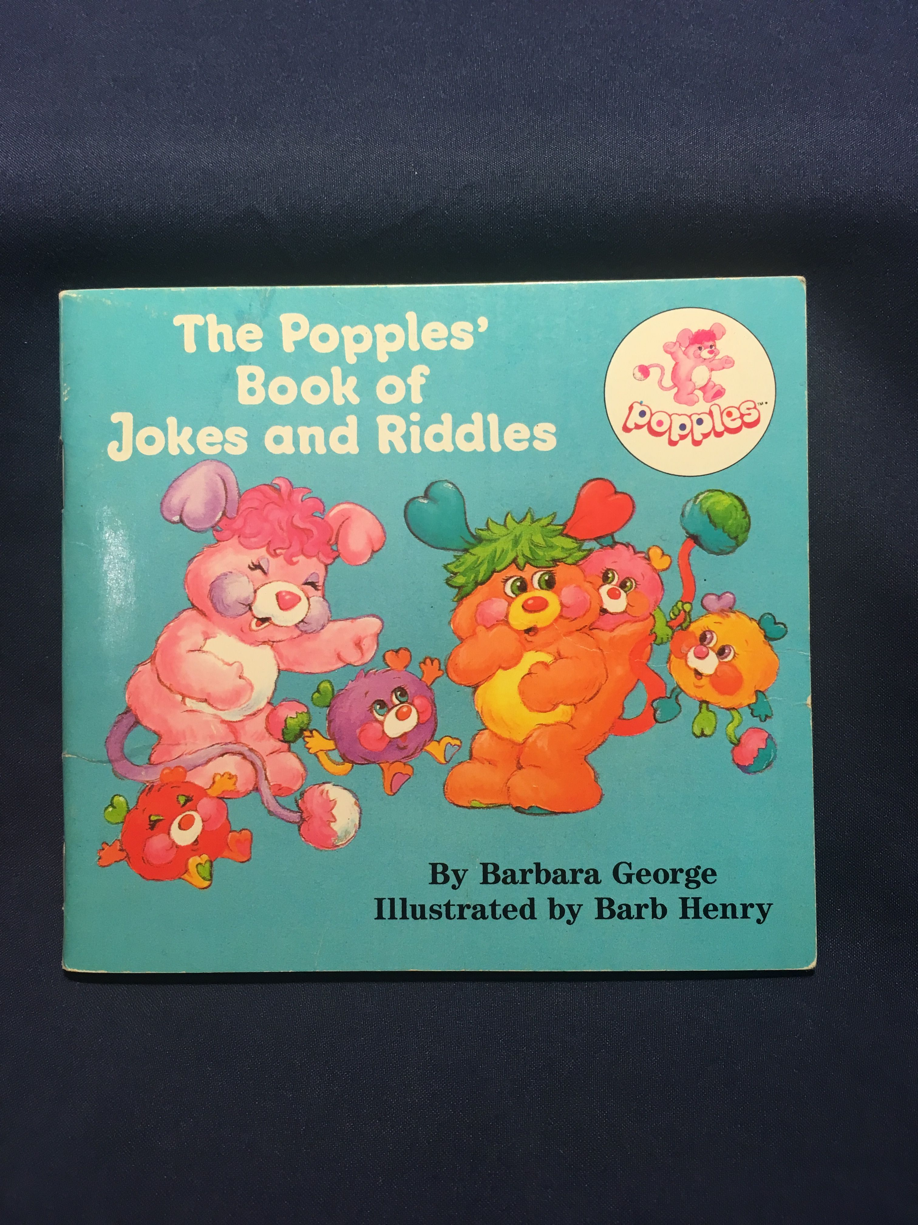 Vintage The Popples Book of Jokes and Riddles Childrens