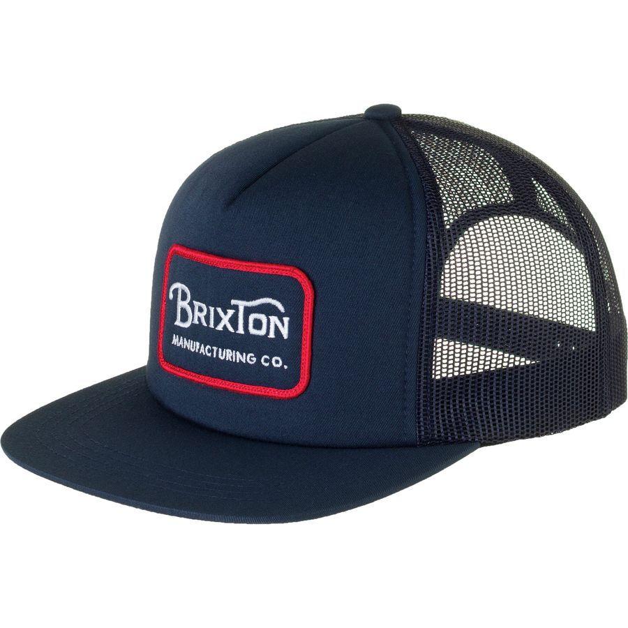 Brixton Grade Trucker Hat Navy Red  c58805dbf90f