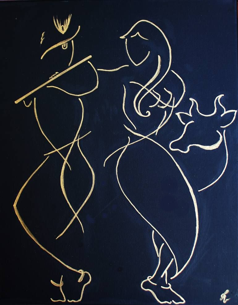 Saatchi Art Artist Icreative Kid Painting Radha Krishna Art