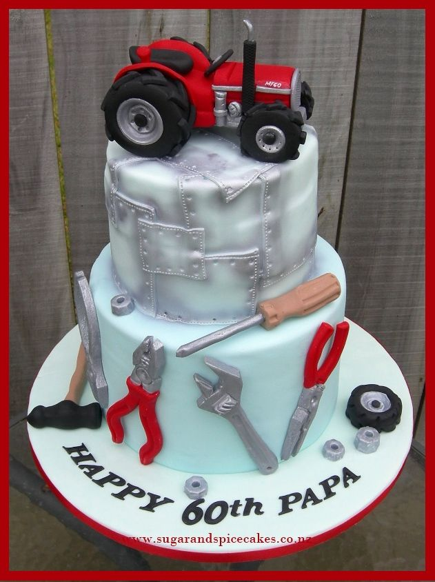 tractor and tools cake designer cakes cupcakes and sugarcraft by on specialty birthday cakes auckland
