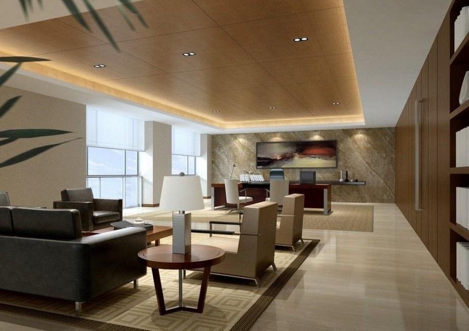 Luxury Office Design Ideas 03 Popular Living Room Design Design Ideas Living Luxur In 2020 Cabin Interior Design Executive Office Design Office Interior Design