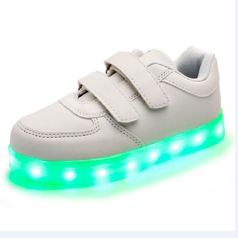 Kids Unisex Luminous Shoes USB Charge LED Light Breathable Boys Girls Sneakers