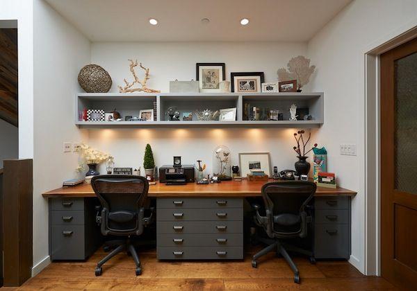 home office shared desk idea | Home | Pinterest | Desk ideas, Home ...