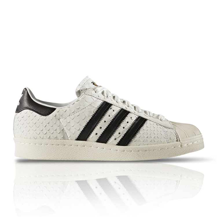 a6a3ba230e97f4 ADIDAS ORIGINALS WOMEN S SUPERSTAR 80 S LEATHER SNAKE  sportscene ...