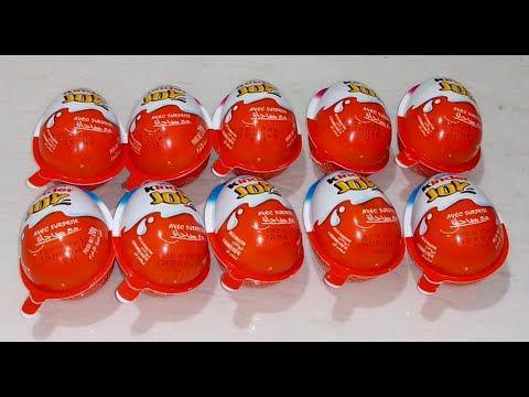 Kinder Surprise Eggs بيض المفاجات 10 بيضة مفاجآت بيضة كندر سبرايز Youtube Stuffed Peppers Food Vegetables