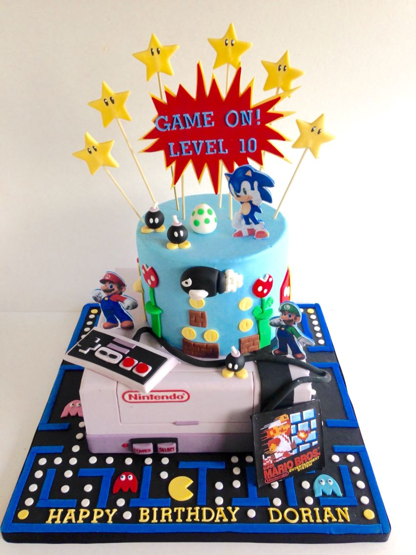 Video Game Cake With Images Video Game Cakes Arcade