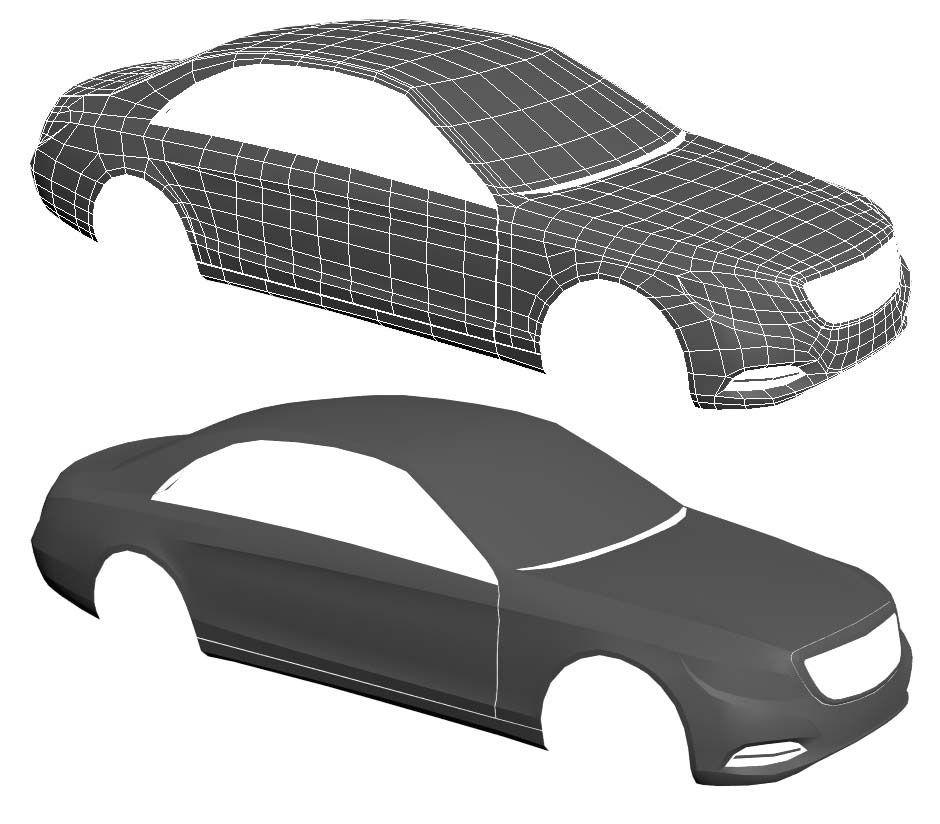 Car 3d Model Step 1 Base Wireframe Car Model Car 3d Model Car