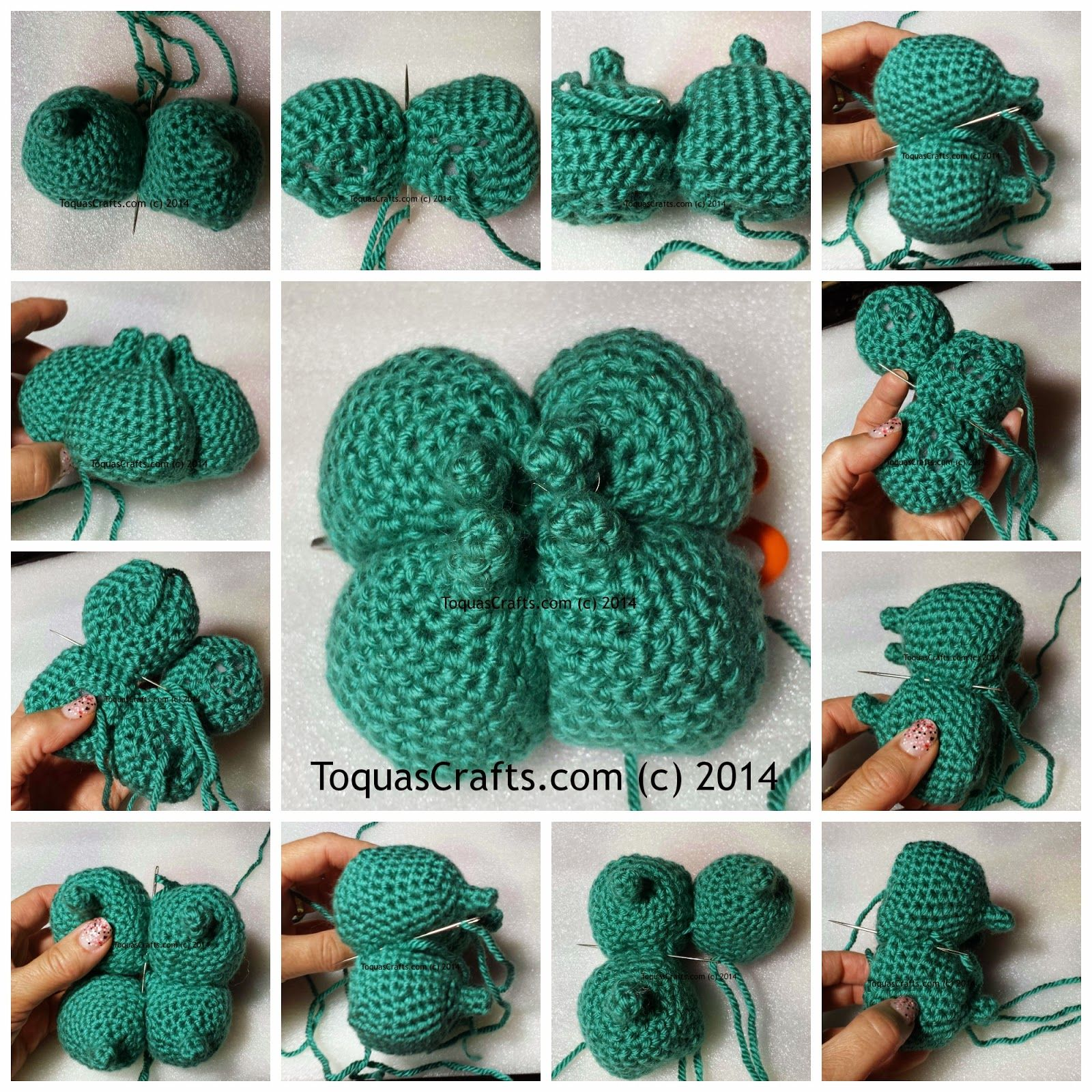 Toqua\'s Crafts: Bulbasaur (Pokémon) Free Pattern and Tutorial ...