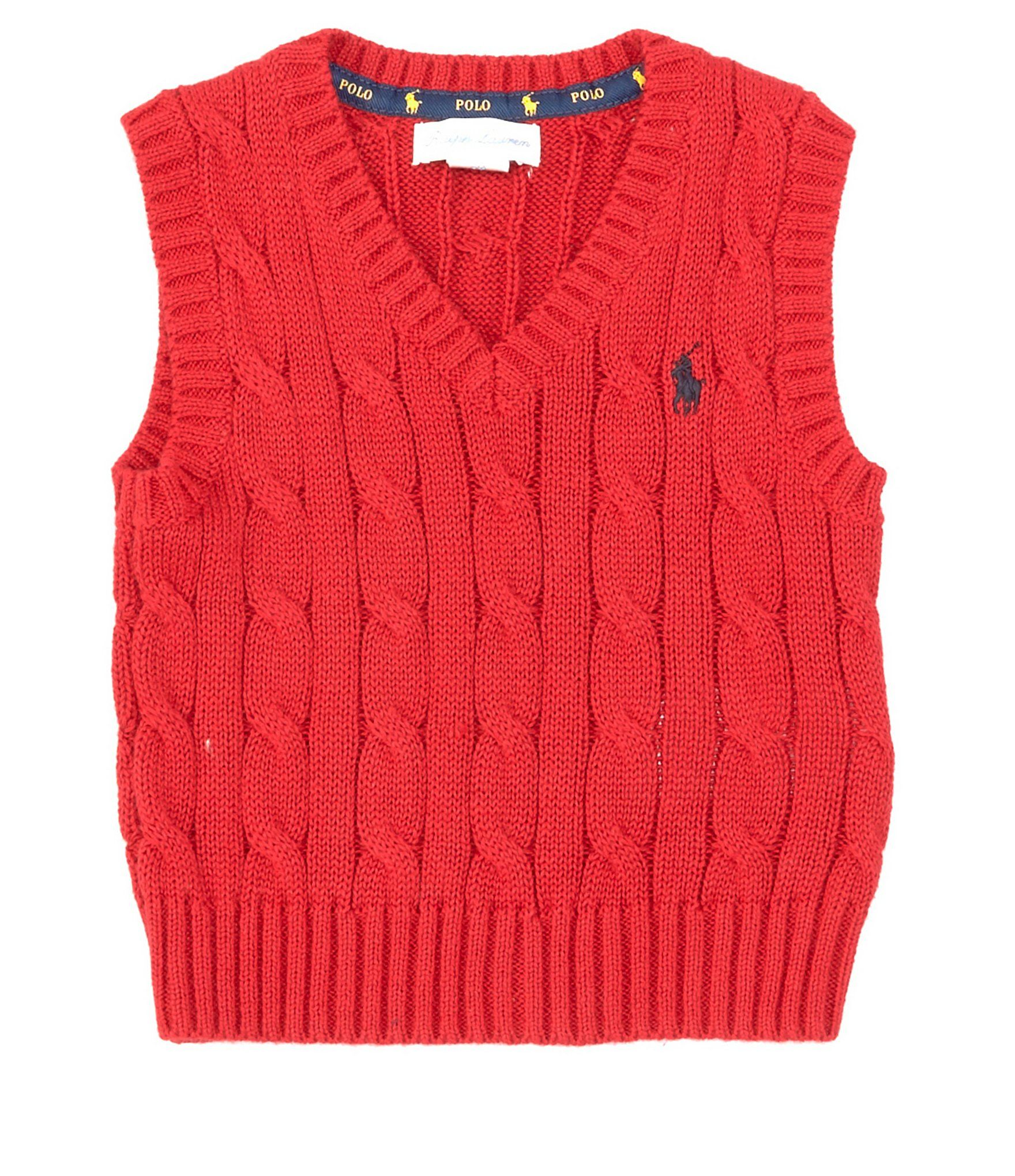 Photo of Ralph Lauren Childrenswear Baby Boys 3-24 Months Cable-Knit Sweater Vest | Dillard's