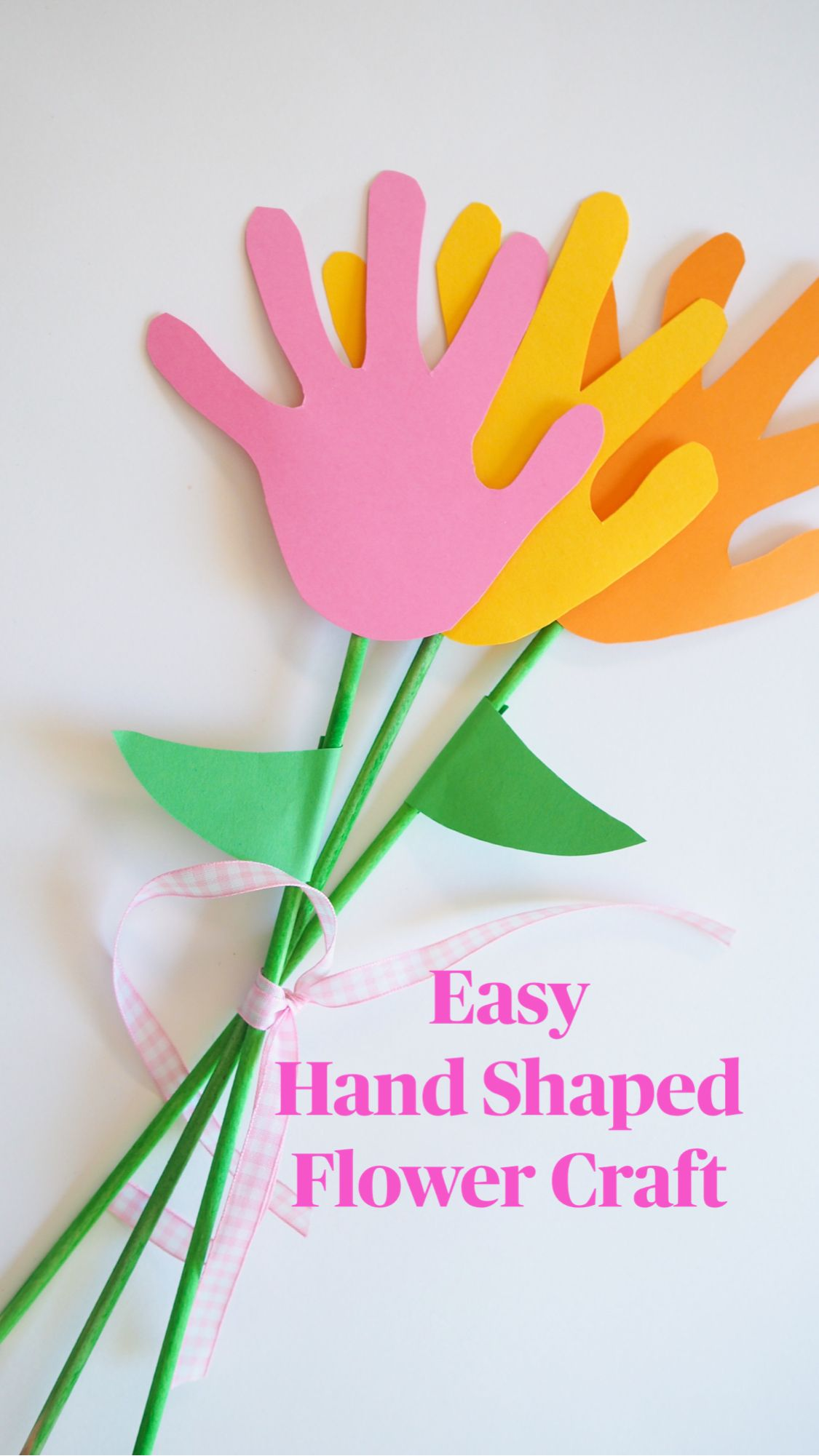 Easy  Hand Shaped Flower Craft