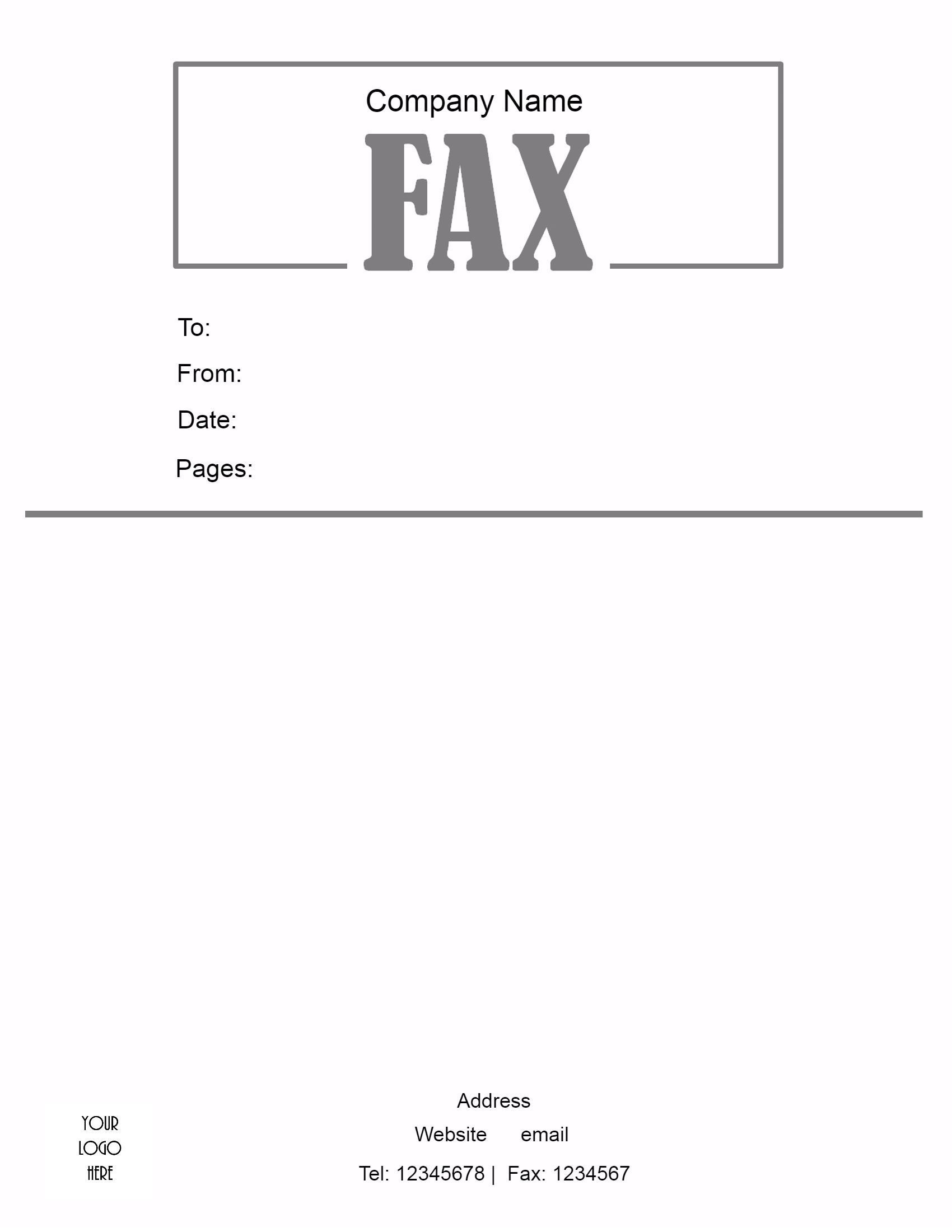 free fax cover sheet template format example pdf printable fax