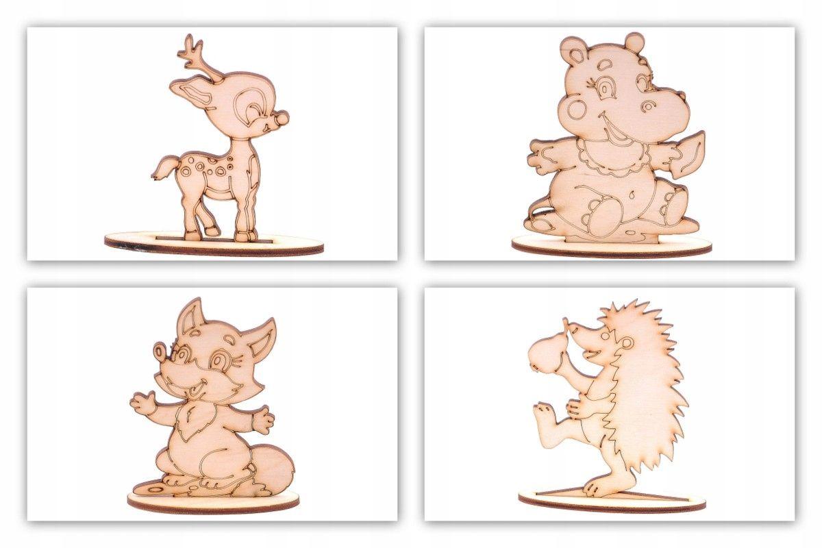 Dekory 3d Sklejka Decoupage Eko Ozdoby Dla Dzieci Childrens Room Decor Kids Toys Wooden Animals