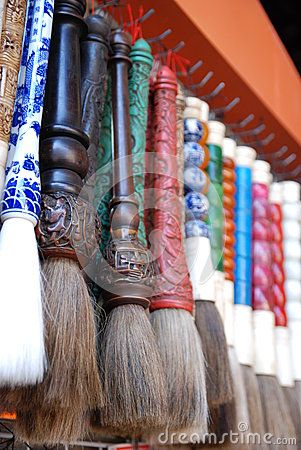 Chinese lunar new year decoration, traditional handicraft writing brushes