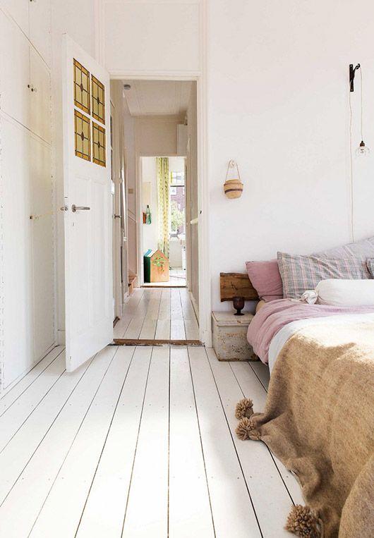 At Home In Rotterdam Sfgirlbybay Bedroom Wooden Floor White Wooden Floor Bedroom Flooring
