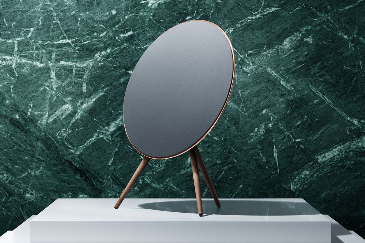 This special edition BeoPlay A9 comes with a black rear, a Rose golden touch on the aluminium ring, a beautiful Forged Iron grey front cloth, and elegantly crafted walnut legs - celebrating 90 years of excellence  #loveaffaircollection #BangOlufsen #BeoPlayA9  Learn more at http://www.bang-olufsen.com/loveaffaircollection