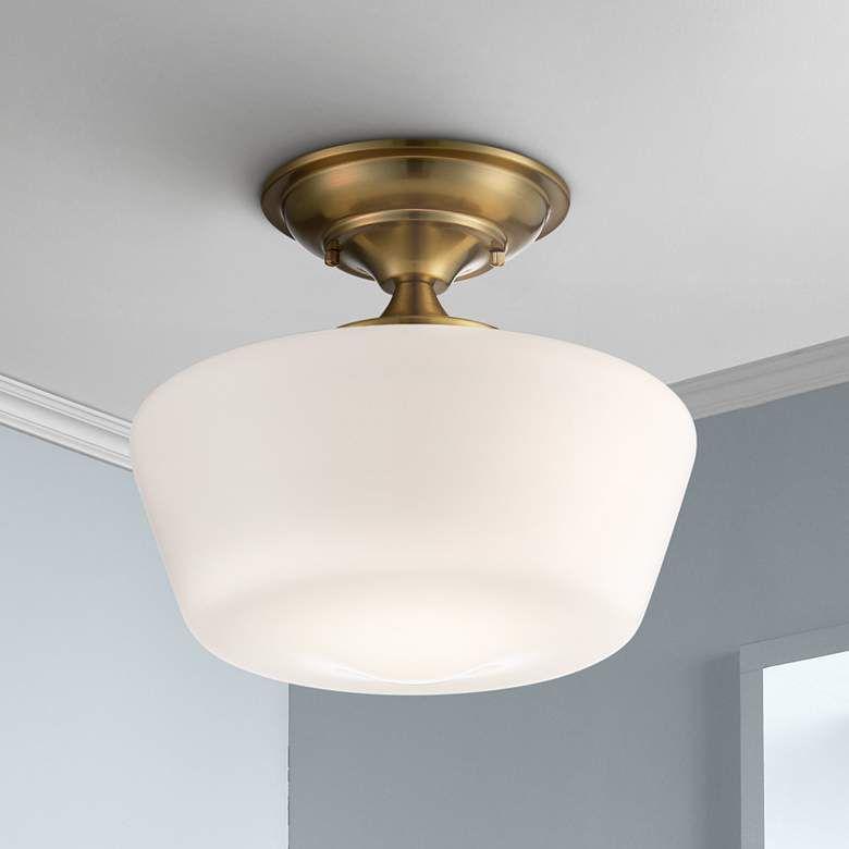 Schoolhouse Soft Gold 12 Wide Ceiling Light Fixture 71n89 Lamps Plus Ceiling Lights Modern Ceiling Light Light Fixtures