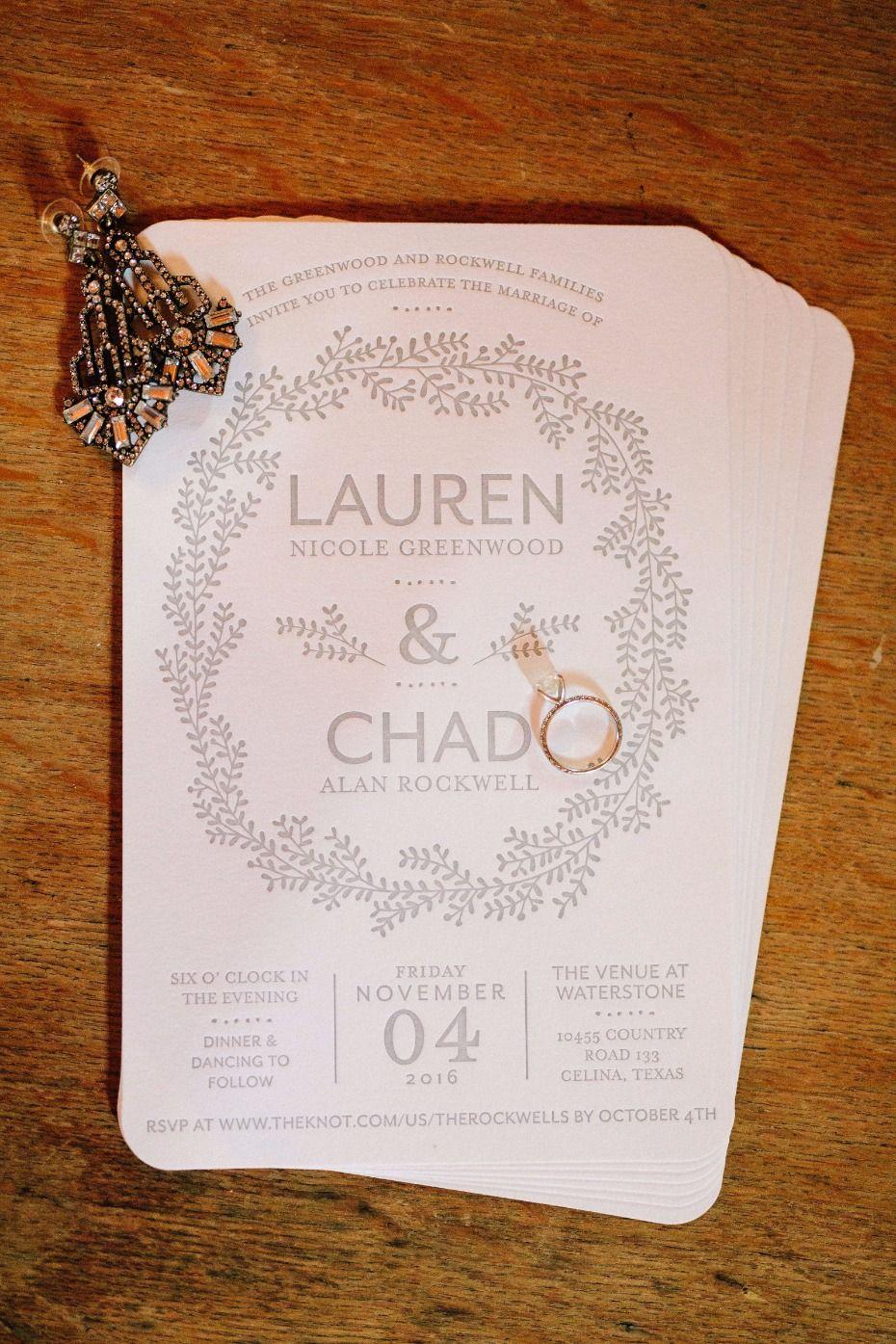 embossed wedding invitations Letu0027s Get Rustic This