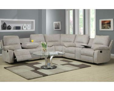 Grey Reclining Sectional With Cup Holder Sectional Sofa With Recliner Reclining Sectional Sectional Living Room Sets
