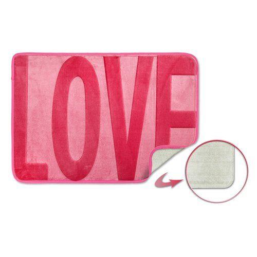 Americus Love Non Slip Bath Mat Metro Lane Colour Pink Washable