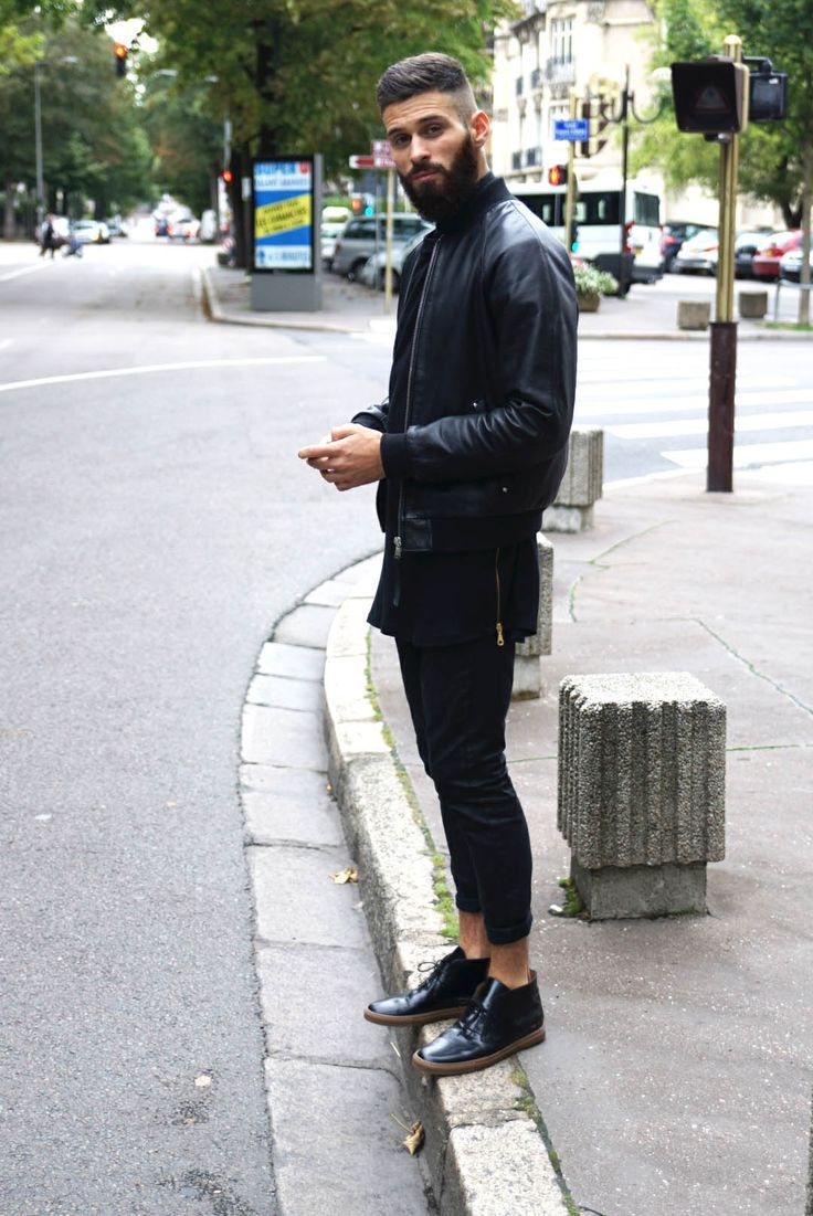 Image result for black on black men's outfits