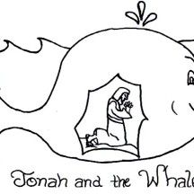 Story Of Jonah And The Whale Coloring Page Sunday School