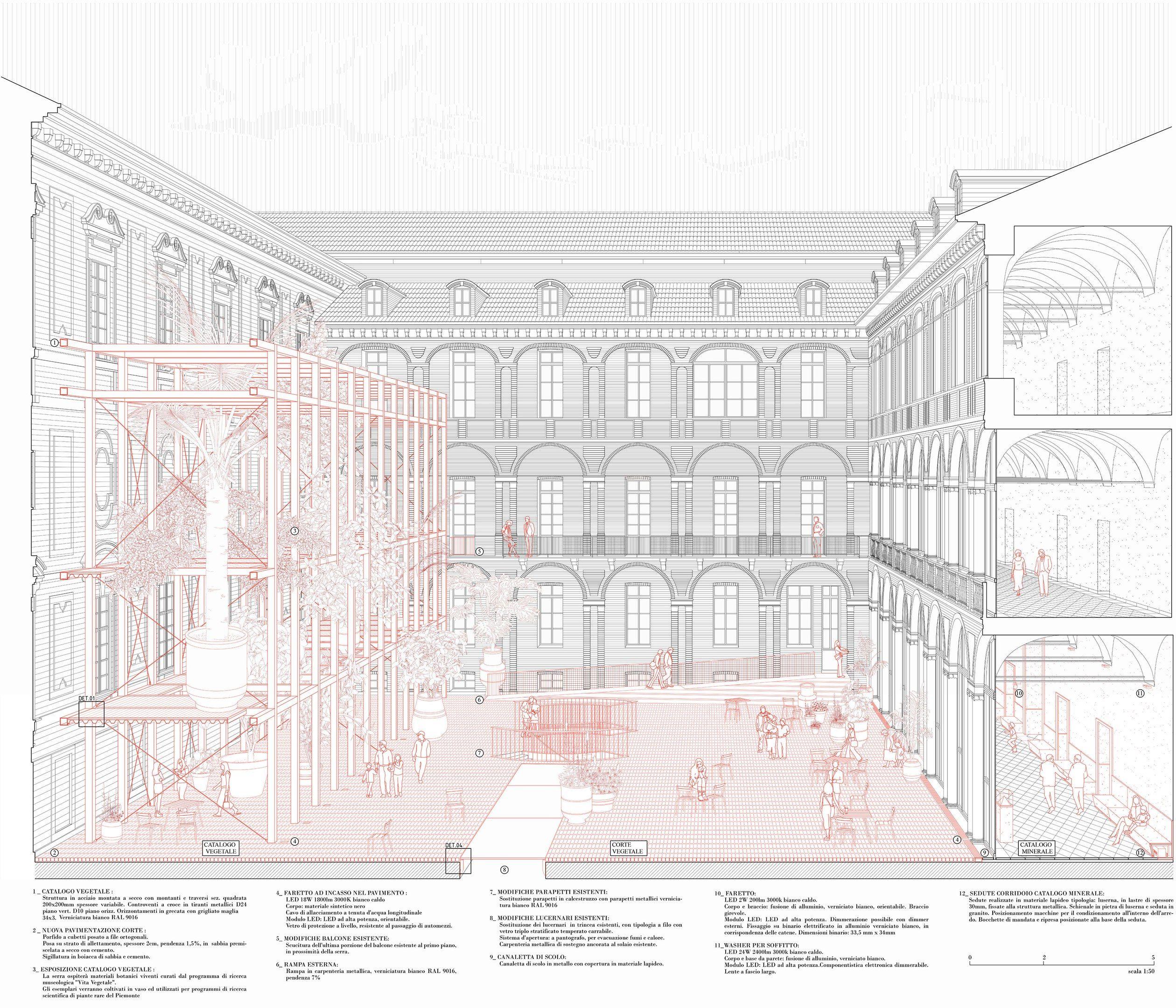 Archive Architecture Visualization Architecture Collage