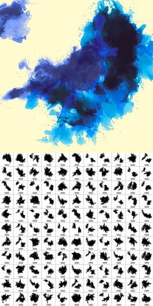 30 Sets Of Free Photoshop Paint Brushes Watercolor Splatter