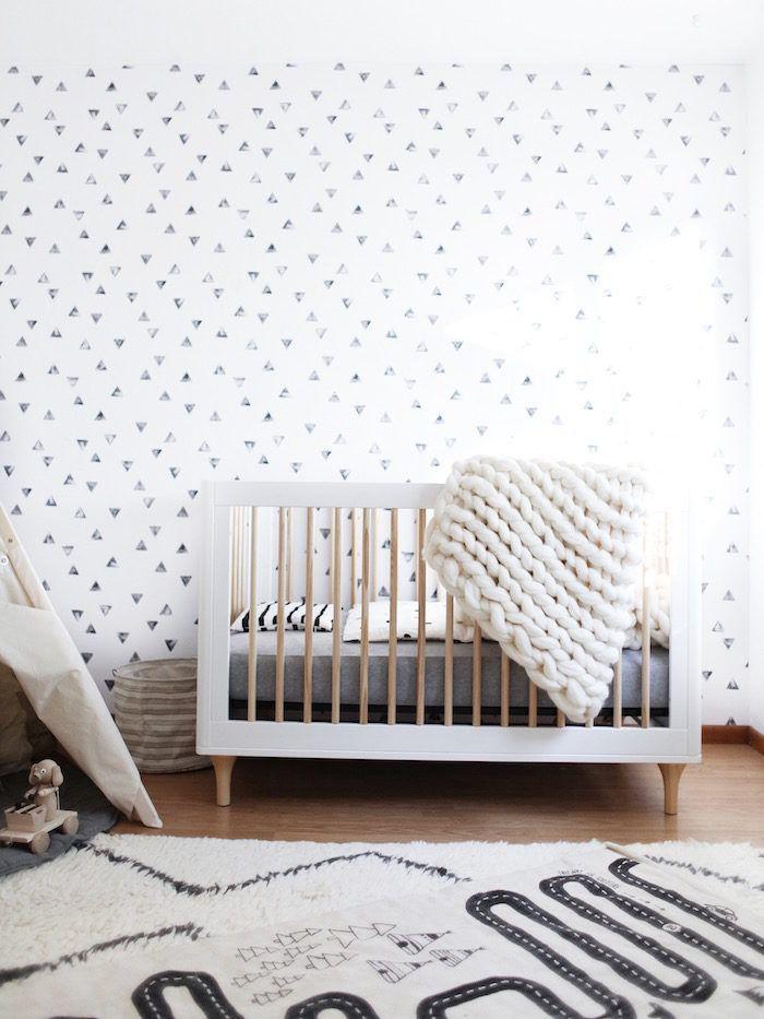 Modern Geometric Nursery | Cuarto de niños, Bebe y Decoración de ...