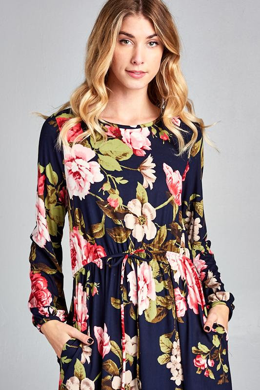7b1c8631c3a Floral Midi Dress for women    Easter Dress   Modest Apparel   Modest Dress    Floral Easter Dress