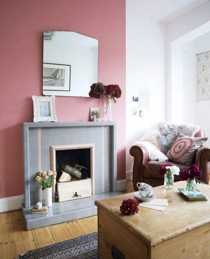 Wandfarbe Altrosa 21 Romantische Ideen Fur Ihre Wohnung Wandfarben Ideen Wohnzimmer Wandfarbe Wohnzimmer Wandgestaltung Wohnzimmer Farbe
