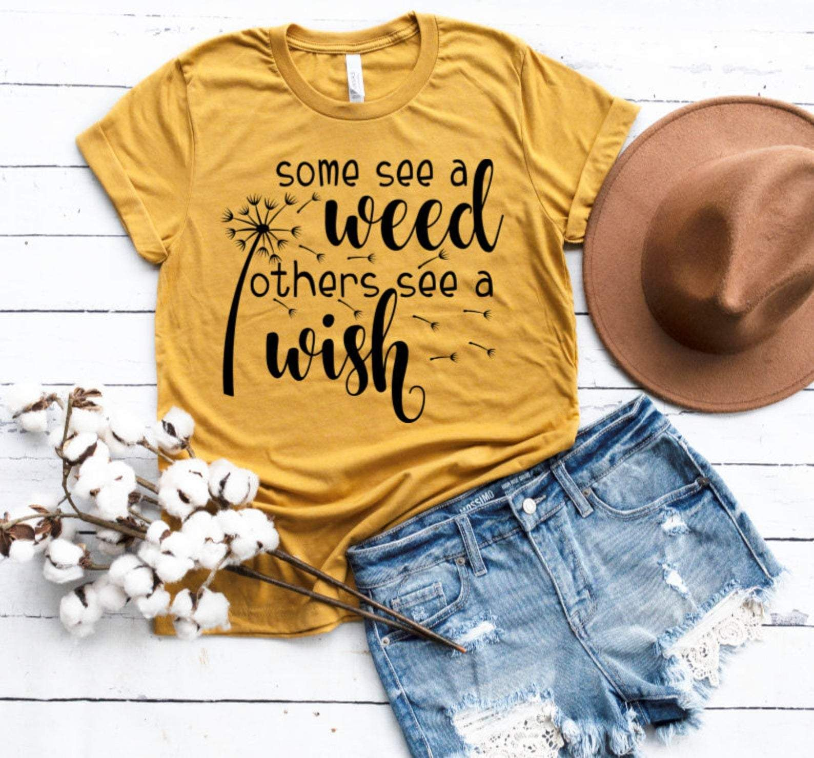 Some See A Weed others See a Wish Dandelion Adult Tee - 2XL
