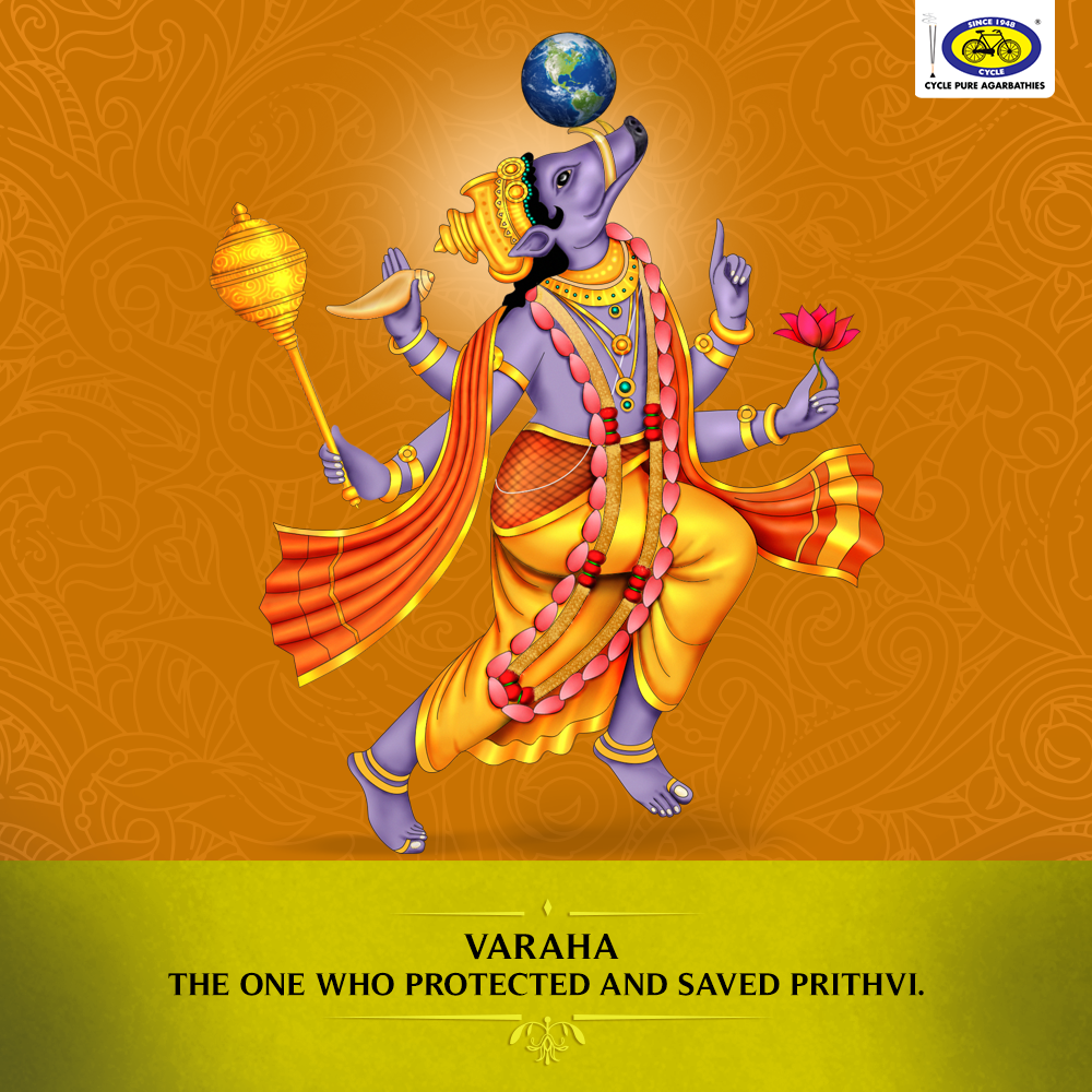 Varaha is the third of the ten primary avatars (Dashavatara) of Lord