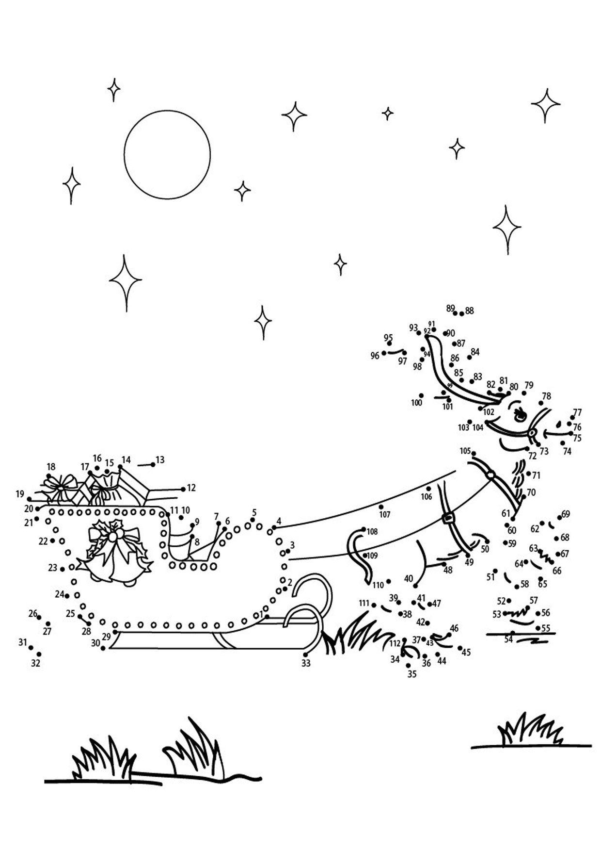 Disegni Di Natale Da Unire Con I Puntini.Unisci I Puntini Sul Natale Da Stampare Per Bambini Schede Natale Bambini Di Natale Stampe Per Bambini