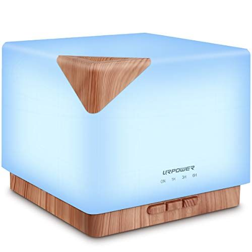 URPOWER Square Aromatherapy Essential Oil Diffuser Humidifier, 700ml Large Capacity Modern Ultrasonic Aroma Diffusers...