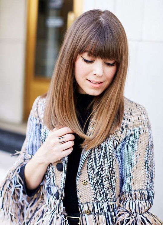Straight Hairstyles With Bangs Stunning Fall Hair Trends Bangs T3  ♥ Hair ♥  Pinterest  Fall Hair