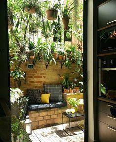 Decoração de jardim: 50 ideias e tutoriais para dar vida à área externa #apartmentpatiogardens