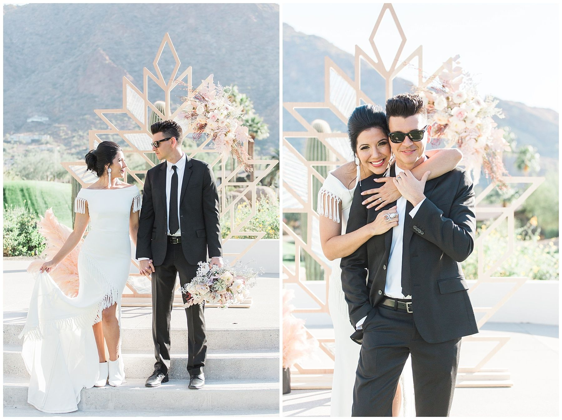 Rock and Roll Themed Arizona Wedding! And a fringe wedding dress ...