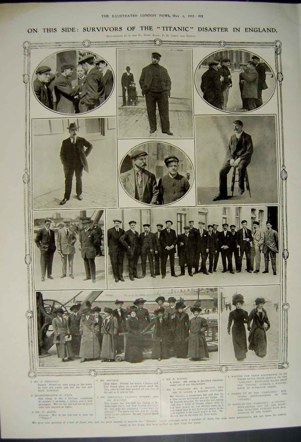 The London News May 4 Pictured Are Survivors Of