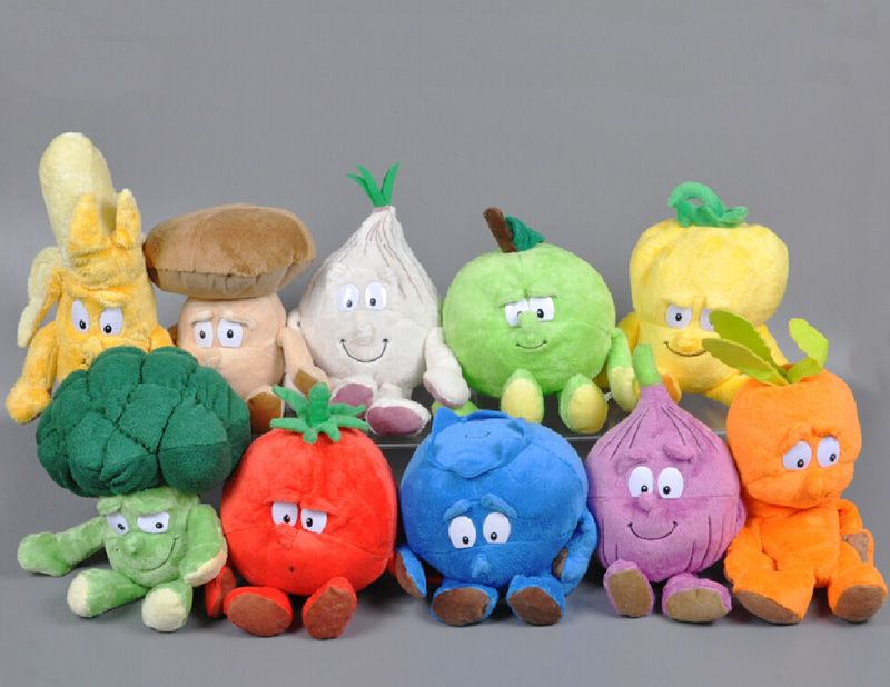 d4ac876de5cd Fruit vegetable plush toy cute plants blueberry Strawberry banana onion  Pear tomato stuffed Toy doll kids toys Birthday Gift