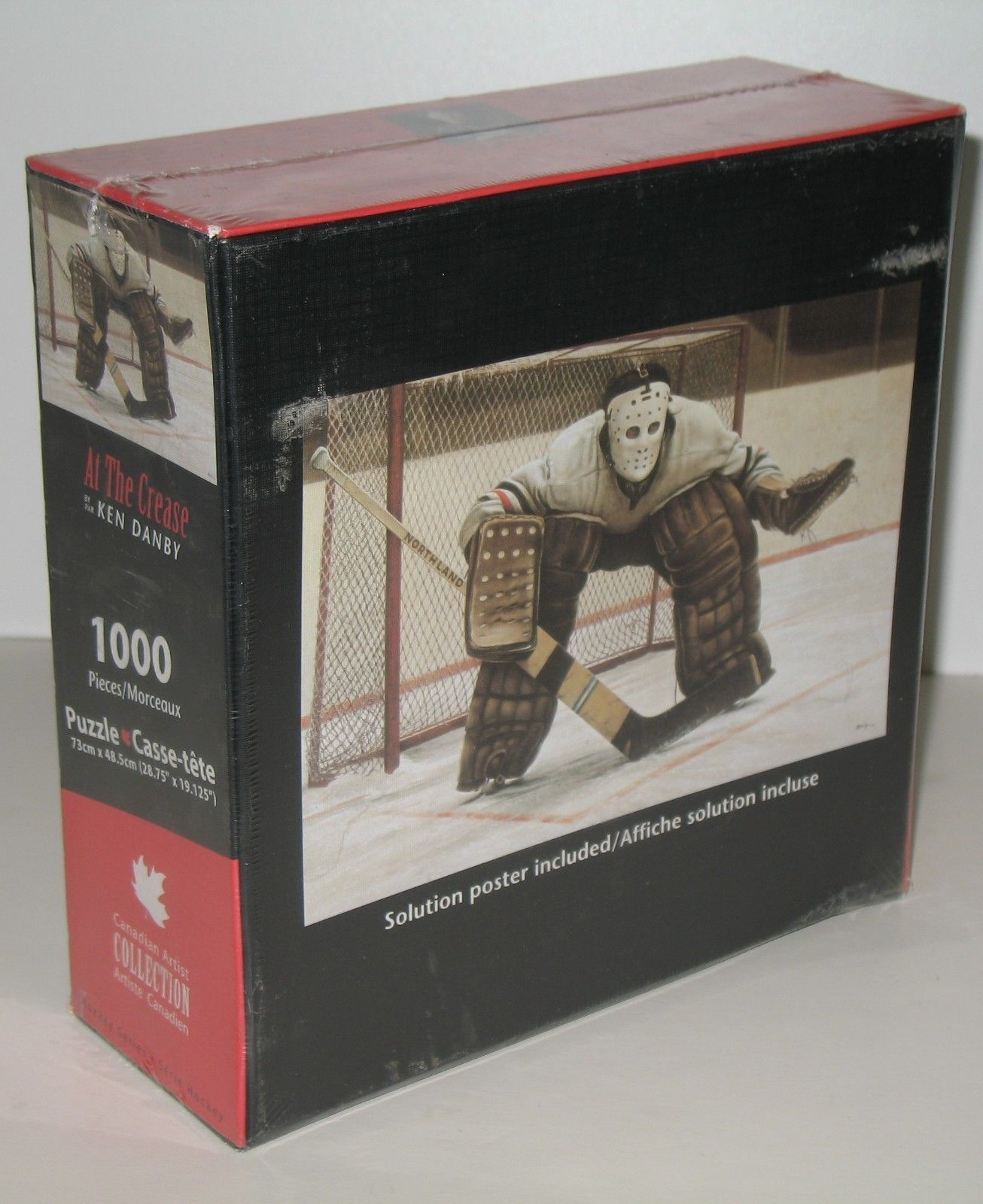 """I SOLD IT ON EBAY: Jigsaw puzzle featuring artwork by Ken Danby called """"At the Crease."""" The puzzle has 1000 pieces and features a hockey goalie. More hockey-themed puzzles available by clicking on this image. #hockey #goalie #kendanby"""