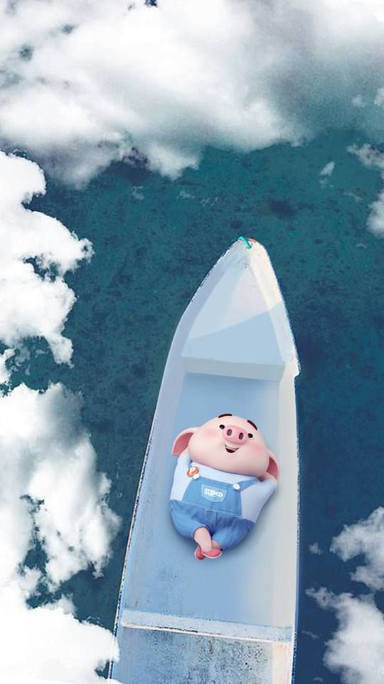 Hình nền chú lợn con ủn ỉn độc đáo và dễ thương cho smartphone Android