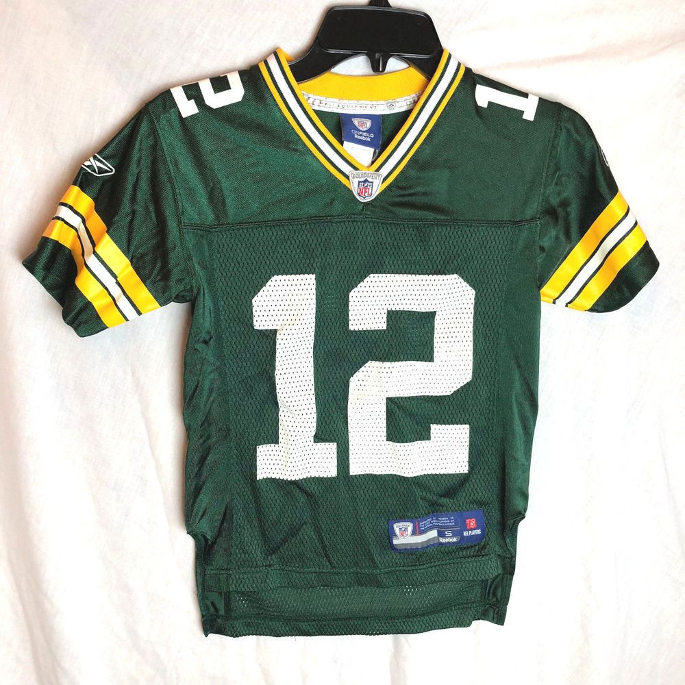 Green Bay Packers Aaron Rodgers 12 Jersey Reebok Youth Size Small 8 Reebok Greenbaypackers Green Bay Packers Aaron Rodgers Jersey Reebok
