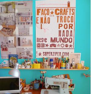 """Poster """"Faço Crafts e não troco por nada neste mundo"""" (edição limitada)"""